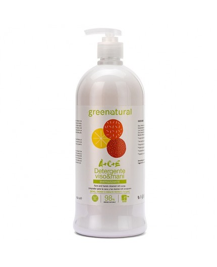 Greenatural DETERGENTE VISO & MANI Multivitamine ACE - ecobio - 1000 ml