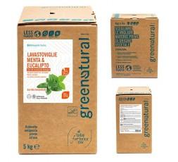 GN BAG Lavastoviglie liquido MENTA & EUCALIPTO – ecobio - 5 Kg