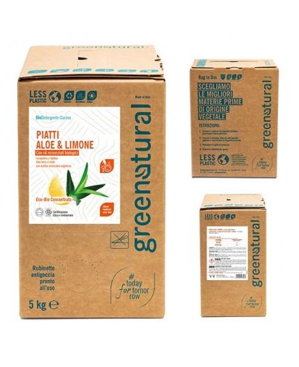 Greenatural BAG Piatti e Stoviglie ALOE & LIMONE - ecobio - 5 Kg