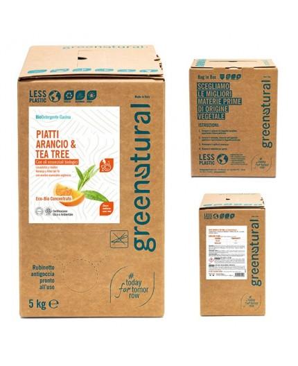 Greenatural Piatti e Stoviglie - ARANCIO & TEA TREE - ecobio - 5 Kg