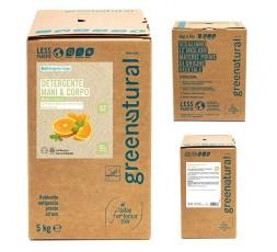 GN Detergente Mani e Corpo - MENTA & ARANCIO - ecobio - 5 Kg