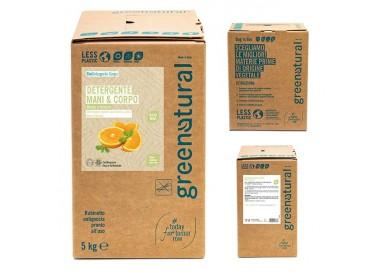 Greenatural Detergente Mani e Corpo - MENTA & ARANCIO - ecobio - 5 Kg