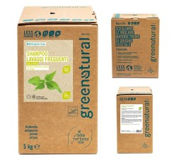 Greenatural Shampoo lavaggi FREQUENTI LINO & ORTICA - ecobio - 1000 ml