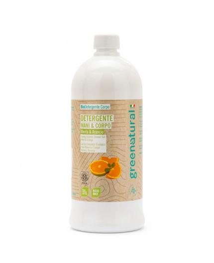 GN Detergente Mani e Corpo - MENTA & ARANCIO - ecobio -1000 ml