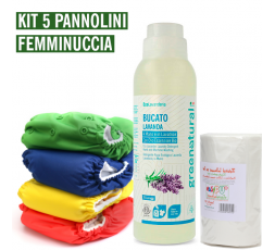 Pannolino lavabile Bebè - EasyPu'  - KIT 5 FEMMINUCCIA