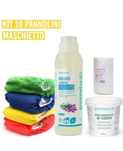 Pannolino lavabile Bebè - EasyPu'  - KIT 10 MASCHIETTO