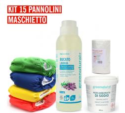 Pannolino lavabile Bebè - EasyPu'  - KIT 15 MASCHIETTO