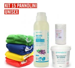 Pannolino lavabile Bebè - EasyPu'  - KIT 15 UNISEX