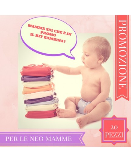 Pannolino lavabile Bebè - EasyPu'  - KIT 20 FEMMINUCCIA