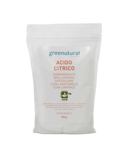 Greenatural Acido Citrico - RICARICA - Busta 0,700 Kg